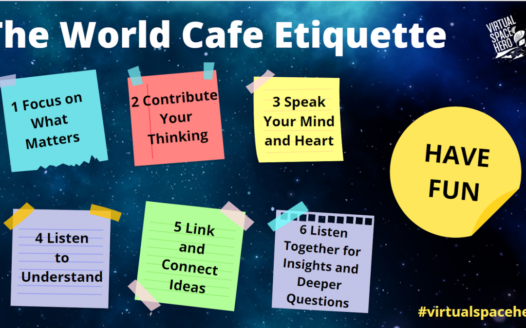How to organise and facilitate a virtual World Café?